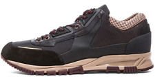 LANVIN Men's Sneaker Shoes Basket Leather Mesh Brown Running Hiking Casual