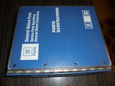 Cadillac bodies E-K, & V 1986-92 parts & illustrations in blue Cadillac binder