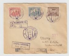 Poland:  Winter 1927  R-airmail  Warsaw - Lwow,  unlisted
