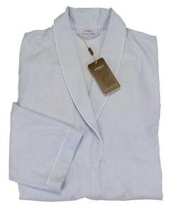 NWT ZIMMERLI Switzerland GOWN sky blue cotton belt long jacket luxury 3XL