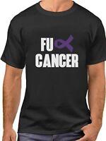 FU Cancer Shirt Pancreatic Cancer Awareness Month Purple Ribbon T-Shirt Support