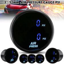 Dual Digital Air Pressure Gauge PSI Suspension Meter 1/8NPT 2'' 52mm W/ sensor