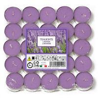 50 Price's Italian Aladino Lilac Lavender Tealight Tealights Tea Light Candles
