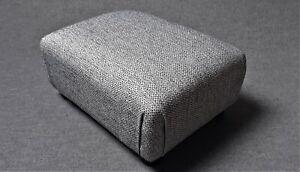 Footstool / Pouffe / Small Stool / Ottoman / Grey Fleck upholstery fabric Tartan