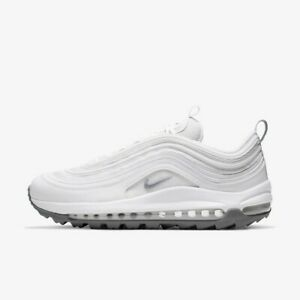 Nike AIR MAX 97 Golf - Whtie / CI7538-100 / Mens Golf Shoes Sneakers