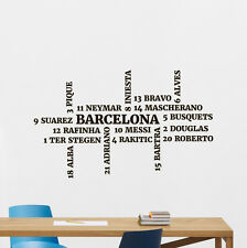 Barcelona Wall Decal Football Player Squad Vinyl Sticker Art Decor Mural 24nnn
