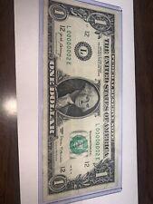 2017 $1 dollar bill Ultra low 2nd serial number L00000002E Single Digit Rare