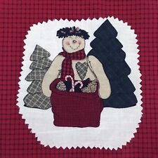 """Daisy Kingdom Cut and Sew Fabric Panel Snowman Trees Bag to Fill 13"""" H Christmas"""