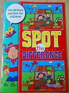 SPOT THE DIFFERENCE BOOK - CHILDREN'S PUZZLES - A4 LARGE SIZE - FULL COLOUR -NEW
