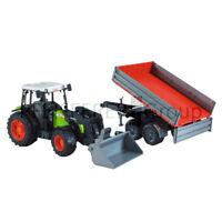 Bruder CLAAS Nectis 267 F mit Frontlader und Anhänger 1:16 Spielzeugtraktor