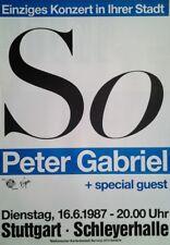 Peter Gabriel: So (1987) | Konzertposter Tourplakat A1