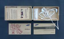 BOX + unused Earphones, Quick Start Guide & Handbook, for a Samsung GALAXY S4