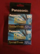 2 Pack Panasonic Special Events 8mm Camcorder Cassette Tapes 120 Min New Sealed