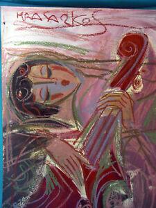 HRASARKOS Tableau Peinture Mixte sur panneau 60 cm x 80 cm Ref 302761642392