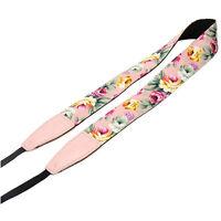 Vintage  Flower Camera Shoulder Neck Belt Strap For SLR DSLR Universal