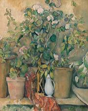 Terracotta Pots and Flowers by Paul Cézanne 60cm x 48cm Art Paper Print