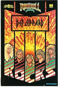 "Rock N'  Roll Comics #5 (1989) VF/NM 2nd Printing ""Def Leppard"" Loren - Nadolsky"