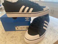 Mens Adidas Nizza Athletic Shoes Sz 9 M BRAND NEW  Black White Cq2332 Sneakers