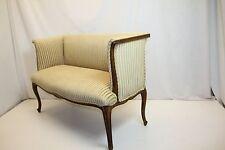 French Louis XV Loveseat Bench Newly Reupholstered in striped Velvet, c.1920's
