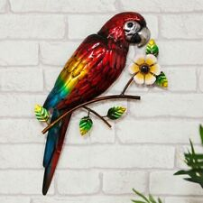 Large Stunning Metal Wall Art Decor Macaw Parrot  Garden or Home