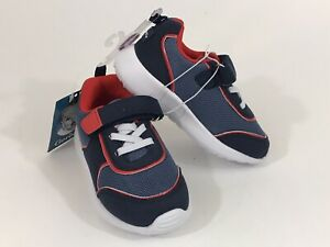GERBER Shoes Toddler Athletic Faux Suede Mesh Strap Sneakers Size 8 Navy Red