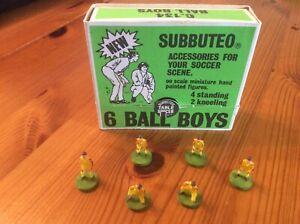 Subbuteo vintage full set of 6 ball boys,4 standing, 2 kneeling, with box.