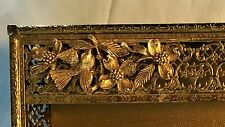 Vintage Gold Ormolu Matson Bird & Dogwood Flower Tissue Box Cover