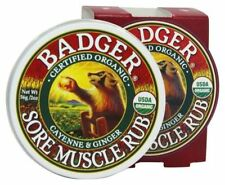 Badger balm Cayenne & Ginger Sore Muscle Rub (2oz) Certified USDA Organic