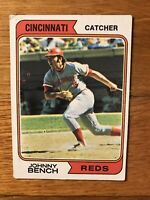 1974 Topps Johnny Bench Cincinnati Reds #10 Baseball Card Combine Ship!