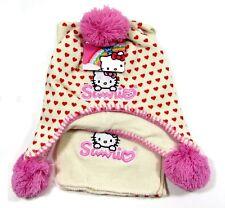 Girls Sanrio Hello Kitty Hat Scarf 2 Pc Set Ages 4-6