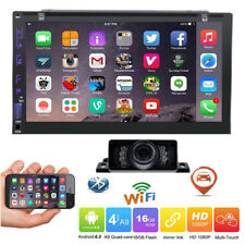 "7"" Smart Android 6.0 4G WiFi Double 2DIN Car Radio Stereo DVD Player GPS Camera"