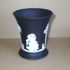 Wedgwood Jasperware Black Posy Vase