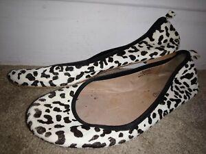 ladies used white ballet pumps flats UK 8 EU 42 good condition worn