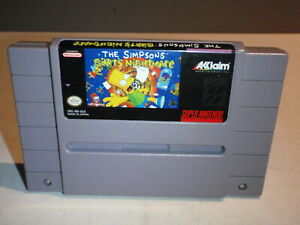 The Simpsons Bart's Nightmare Super Nintendo Entertainment System SNES Tested