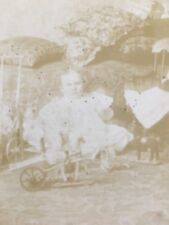 Antique 1898 Photo Victorian Child with Doll and Mechanical Toys