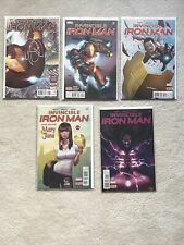 Marvel Invincible Ironman #1-5 Signed Bendis