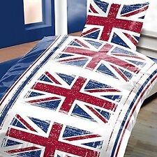 2 tlg. Bettwäsche 135 x 200 cm England Flagge Garnitur Normalgröße >>>AKTION<<<