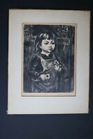 Marion Greenwood 1949 Pencil-Signed Lithograph Black-Eyed Susan  AAA Label