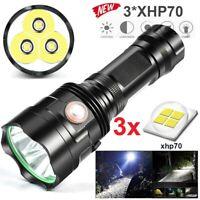 Powerful LED Taschenlampe XHP70 Torch Rechargeable Wasserdichte Lamp Ultra Brigh