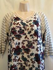 "Jolt blouse Women's  floral embroidered peasant junior medium Bust 38"" $32.95"