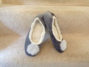 Lovely Joules Grey Ballerina Slippers UK 5/6