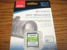 Toshiba  16GB SDHC  Memory Card  class 10