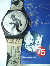 "SWATCH: SPECIAL ""HAPPY BIRTHDAY TINTIN"" (GZ187) TIM & STRUPPI *NEU/ TOP-RARITÄT*"