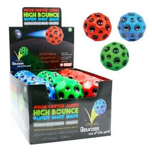 1-24X 7cm Diameter Non-Toxic Moon Crater High Bounce Hand Ball Stress Relief Toy