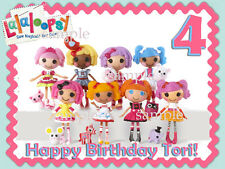 LALALOOPSY Edible ICING Image Birthday CAKE Topper Personalized FREE SHIPPING