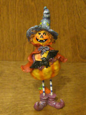"Halloween #J2237A TRICK or TREAT PUMPKIN Figurine 6"" From Retail Store, Transpac"