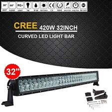 "CREE 420W 32""INCH Curved LED WORK LIGHT BAR COMBO Offroad Truck SUV Jeep Ford 30"
