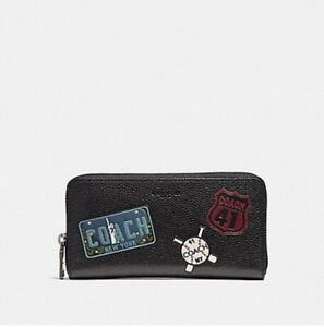 COACH MEN'S ACCORDION WALLET WITH MOTIF MIXED PATCHES F24657