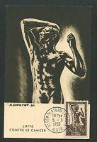ALGERIE MK 1956 CANCER BOUTET MAXIMUMKARTE CARTE MAXIMUM CARD MC CM d4639