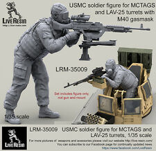 Live Resin 1/35 LRM-35009 USMC Soldier for MCTAGS & LAV-25 Turrets w/M40 Gasmask